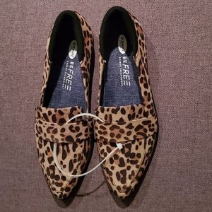 Dr scholls leopard loafers NWT